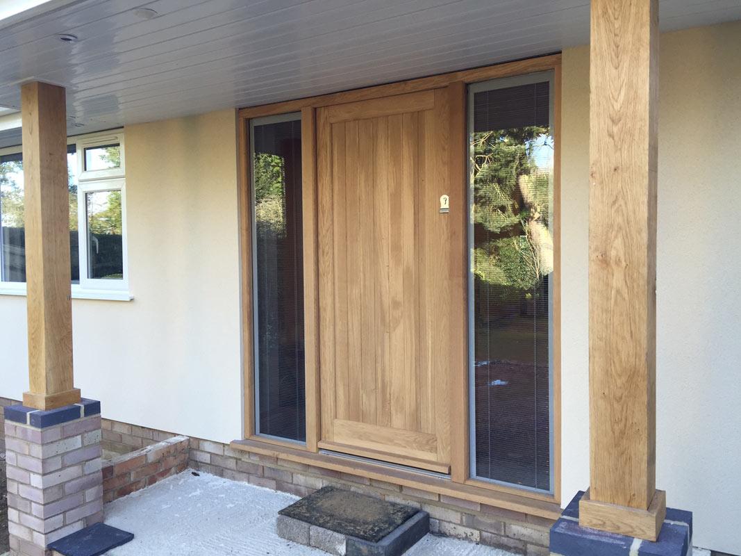 Solid Wood Residential Exterior Doors In Various Styles